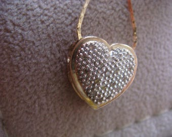 10k Heart with Diamonds Necklace