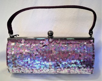 Purple Ombre Sequined Clutch