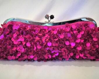 Pink Pailette Clutch