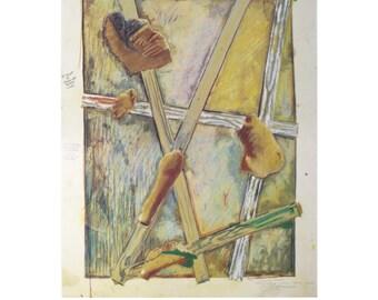 Jasper Johns-Works in Progress-1980 Poster