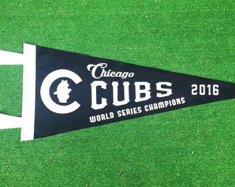Vintage Inspired - Chicago Cubs World Series Champions - Baseball Pennant Flag