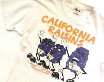 80s california raisins t shirt | medium | 1987 heard it through the grapevine