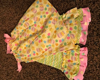 Flash sale Easter dress and ruffle pant set 12mth