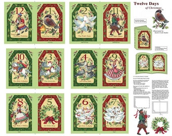 12 Days Of Christmas Soft Book Cotton Print Fabric - Springs International