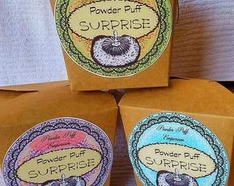 Powder Puff Surprise -  GIFT or Treat for Yourself - Comes with Powder Puff and 3 Powder Scents (restrictions apply)