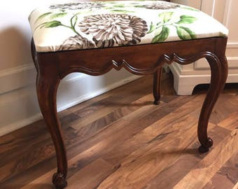 French Provincial vanity bench or stool