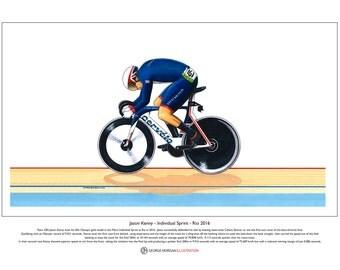Jason Kenny - Individual Sprint - Rio Olympics 2016 Limited Edition Print A3 size