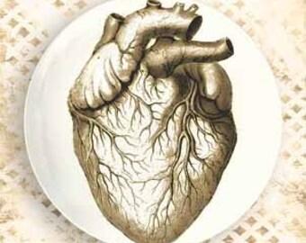 Heart melamine plate