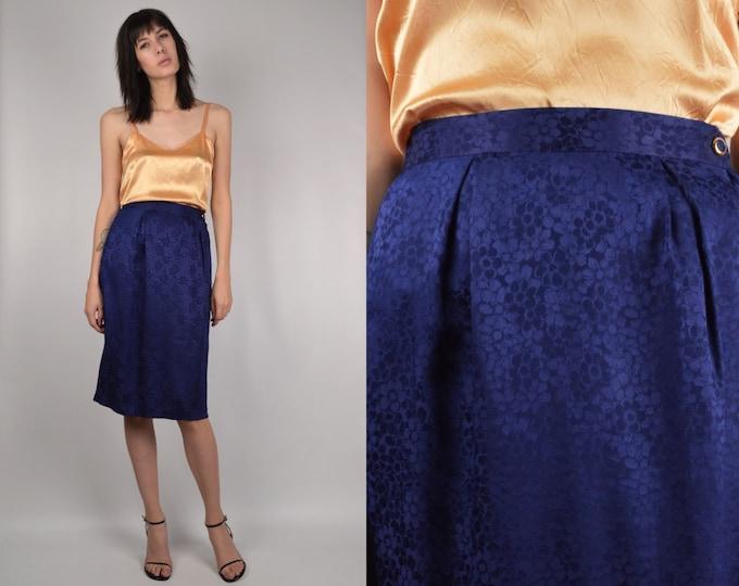 Vintage Silk Skirt high waisted pencil