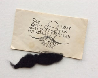 Antique Fake Mustache, The Gay Nineties, 1920-1930's, Original