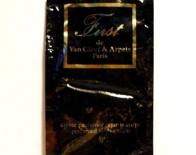 Vintage 1980s First by Van Cleef and Arpels 0.02 oz Perfumed Body Cream Sample Packet