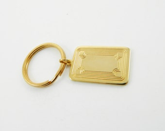 Vintage Gold Etched Keychain
