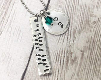 Inspirational Necklace - Perseverance Necklace - Pewter Necklace - Strength Jewelry - Pewter Tags