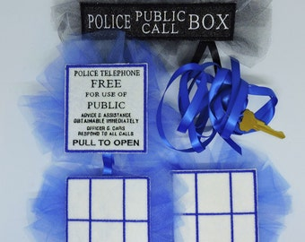 MTO Adult Police Box cosplay accessories Pin set & key Doctor who Tardis inspired gift Dress-up costume police call box custom made to order