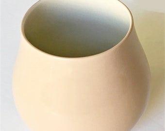 Vintage Fine China Vase USA, Gift home decor vase, pale satin pink, flower vase