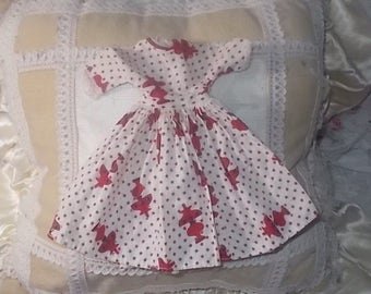 Vintage Barbie Dress, Vintage Handmade Barbie Dress, Vintage Barbie Clothes, Vintage Doll Dress, Vintage Dolls