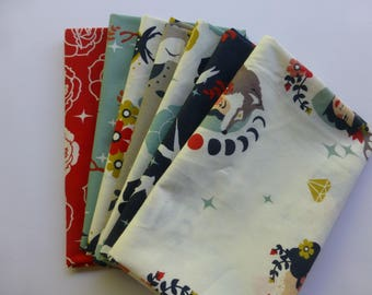 Fat Quarter Bundle, Organic Cotton Fabric - Birch Fabrics Tall Tales