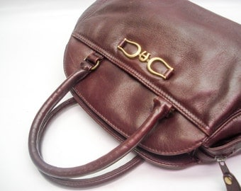 Classic Aigner handbag - dark oxblood
