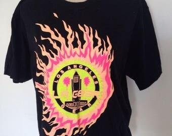Vintage LA Gear Cropped Neon Tshirt