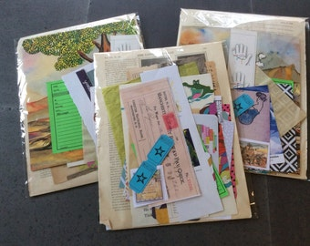 50 pieces of ephemera including vintage book pages, children's books, collage cuts and more- for junk journals,art journals, collage, more