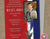 Eagle Scout Court-of-Honor Invites / Card/Postcard  DESIGN / #EagleScout #DIYprintable #CourtofHonorInvite #CourtOfHonorBanner #EagleScout
