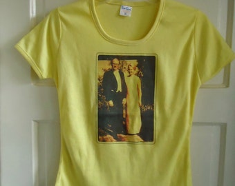 Vintage 70s/80s FRENCH CUT T Shirt Unknown Peeps sz S