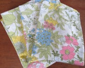 Vintage Full Sheet Set - Pastel Yellow Sunflower - Flat Sheet & 2 Pillowcases