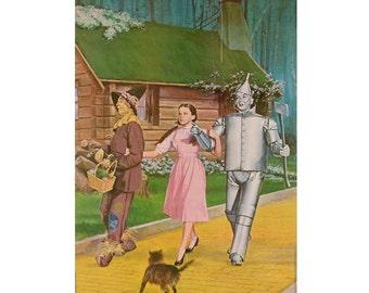 Vintage Wizard of Oz Poster, 1960's Movie Memoribillia