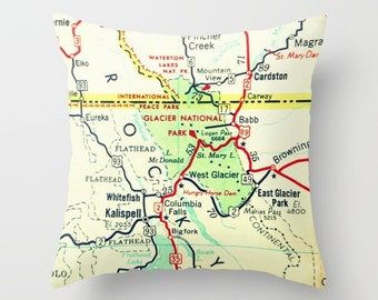 National Park Map Pillow Cover Father S Day Gift Camping Gift Rocky Mountain