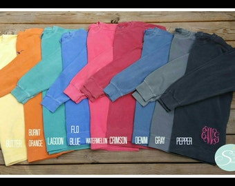 Monogram Comfort Color Sweatshirt*longer sweatshirt*sweatshirt with leggings