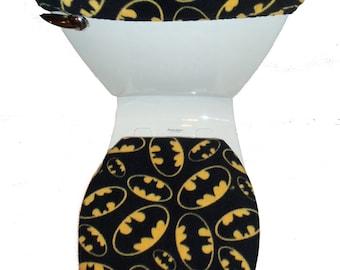 BATMAN Fleece Fabric Toilet Seat Cover Set Bathroom Accessories