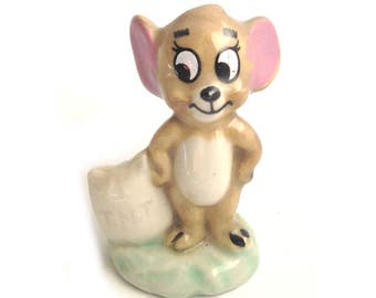Wade MGM Jerry - From the Tom & Jerry series 1973-79 - Wade Whimsies - Wade Disney - Wade Cartoon - Whimsie Jerry - Tom and Jerry