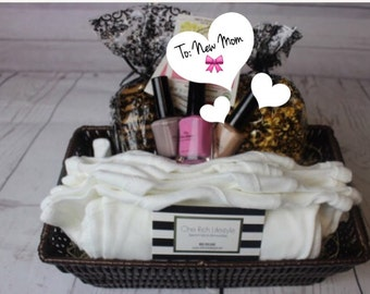 New Mom Gift basket, Lactation Care basket, Postpartum care basket,  new baby gift basket, baby shower gift basket, welcom baby basket,