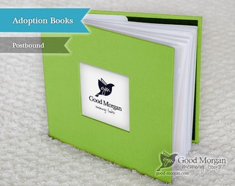 Adopted Baby Memory Book - Citrus Green