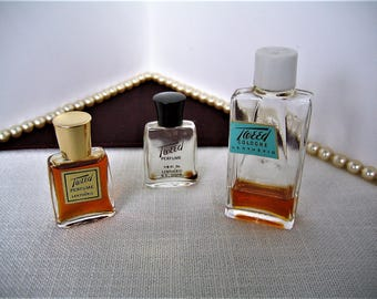 LENTHERIC TWEED Perfume and Cologne Vintage Perfume Bottles Collectible Perfume Flacons Miniature Perfume Bottles Mini Perfume Discontinued