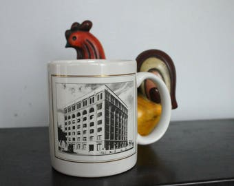John F. Kennedy Collectible mug from the SIXTH FLOOR Museum, Dallas Texas, Unused, First Edition Touring America, 22K Gold, JFK Collectible