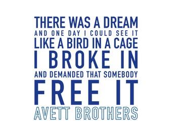 "10"" x 10"" Avett Brothers Poster"