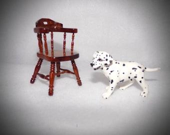 Miniature Doll House Chair .   Wooden Doll Chair .  Miniature Captains Chair .  Doll House  Furniture .