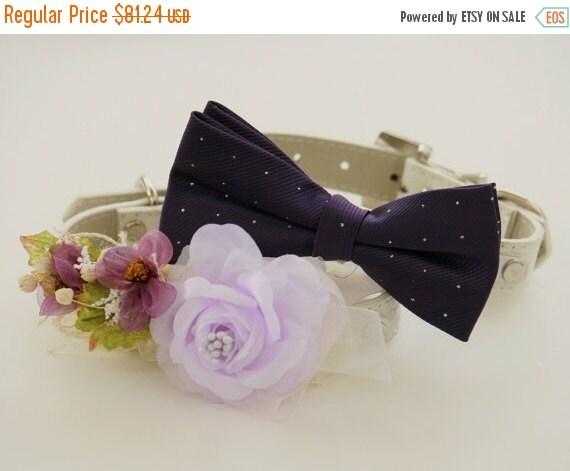 Purple Wedding Dog Collar Wedding Accessories By LADogStore