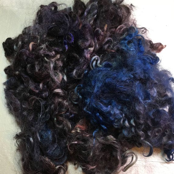 Kettledyed Adult Mohair (yearling grade), 01012