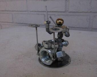 Drummer Metal Bolt Figurine Person