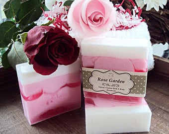 Rose Garden Goats Milk Soap, Handmade Soap, Rose Soap, Floral Soap, Pink Soap, Glycerin Soap, Goats Milk, Bath and Body, Soap