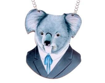Necklace Koala bear wooden