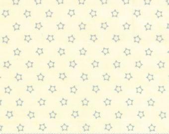 SNOWFALL - Christmas Stars Aqua - Snow Ice - #14835-24 - One Half Yard - Minick & Simpson-Moda - Blue - Cream - Stars