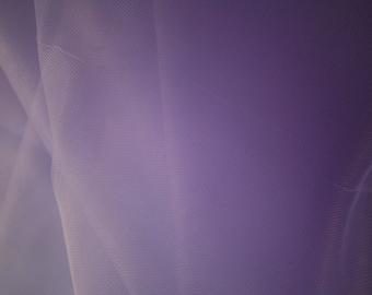 "Lavendar Tulle Fabric 56"" Wide Per Yard"