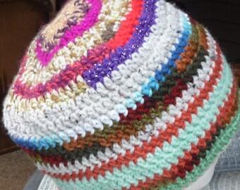 SCRAP Hat cap Multi color crochet beanie full bodied