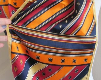 """Scarf Beautiful Orange Colorful  Acetate Scarf 11"""" x 44"""" Long - Affordable Scarves!!!"""