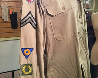 WWII Army uniform with patches