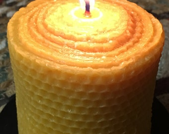3x3 honeycomb 100% pure Beeswax solid pillar candle