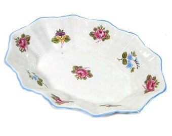 Shelley China Sweetmeat Dish Rose Pansy Forget-Me-Not England